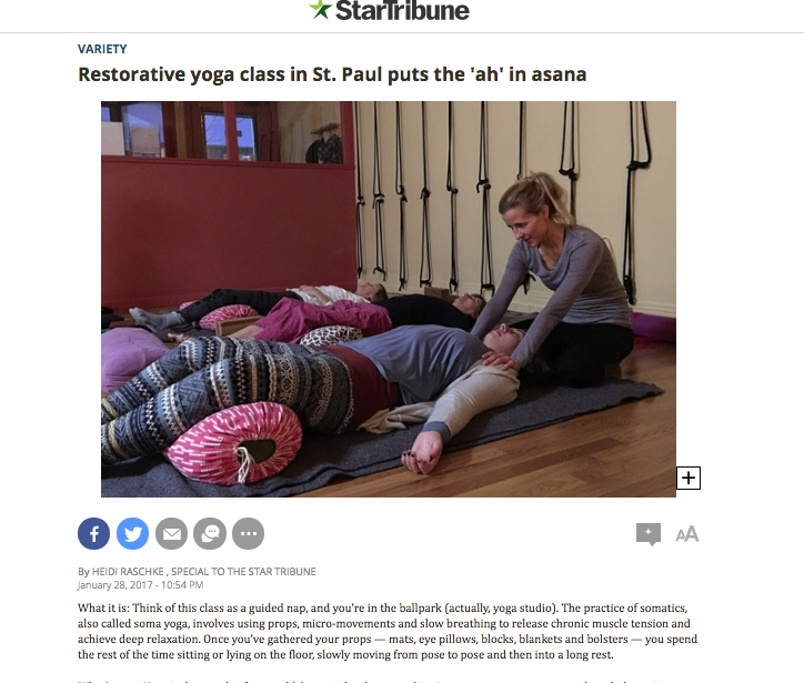 Restorative class featured in the Star Tribune